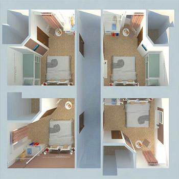 Progetto di riqualificazione architettonica di un B&B esistente