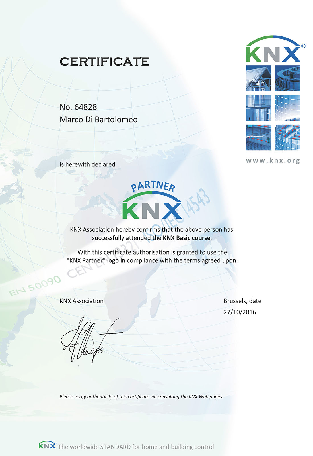 Partner konnex knx domotica - Home and Building Automation - Ing. Marco Di Bartolomeo