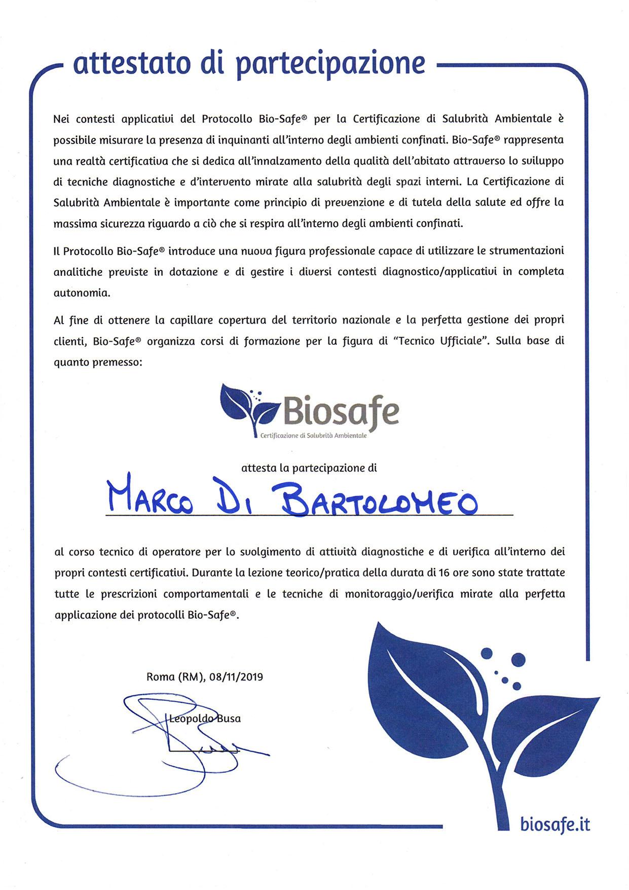 Protocollo di salubrità e qualità dell'aria degli ambienti interni BioSafe in Campania Salerno Napoli Avellino Benevento Baserta