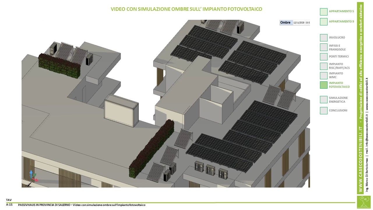 15. PassivHaus (Casa Passiva) in provincia di Salerno in Campania - Ombre fotovoltaico